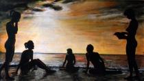 Oil on canvas, 2013 cm 34x61